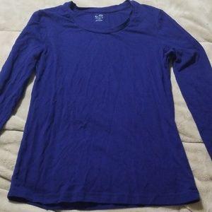 Blue long sleeves sportswear